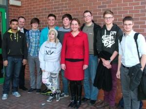 Natascha with Tupton Hall School pupils