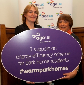 Park Homes campaign with MP's. Age UK campaigns team